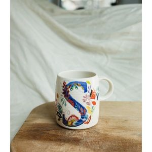 anthropologie Starla m. Halfmann 'S' monogram mug